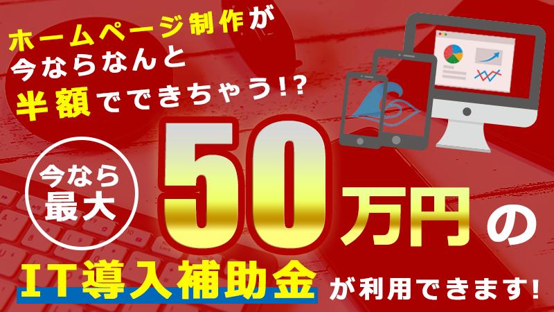 50万円のIT導入補助金が利用できます